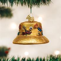 Old World Fisherman's Hat Glass Ornament