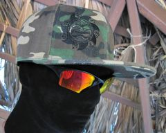 Camouflage Hat (front logo / back name)