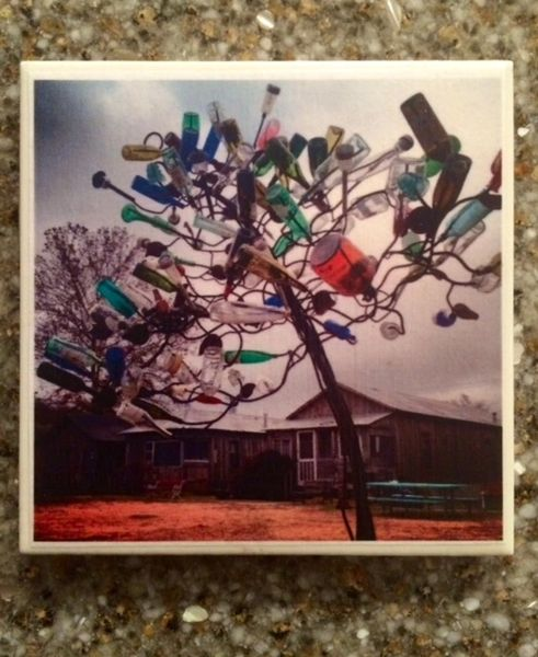 Katrina Bottle Tree - Original Mississippi Delta Photography Coasters