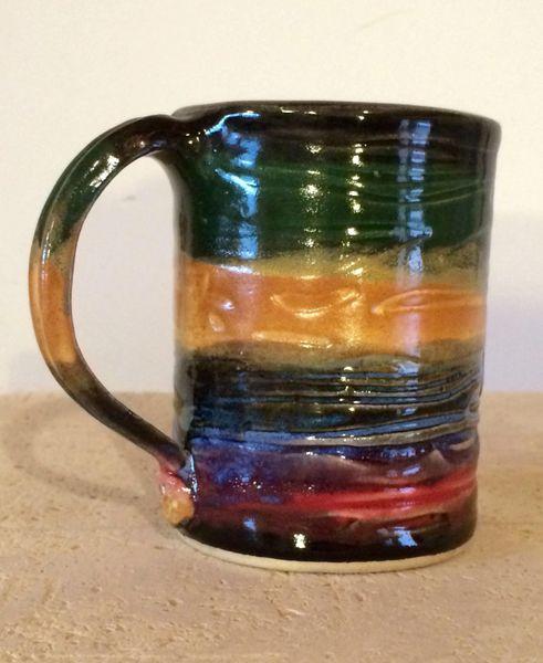 Coffee Mug in Molten Lava Stripe