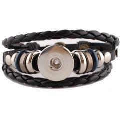 Leather Bracelet_kc0644_Black