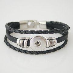 Leather Bracelet_KB0829-Black