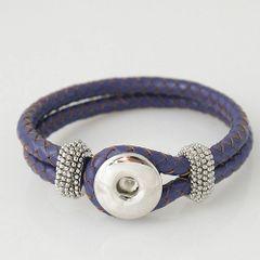 Leather Bracelet_KB0803 Purple