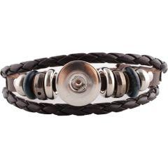 Leather Bracelet_KC0645_Brown