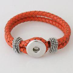 Leather Bracelet_KB0806 Orange