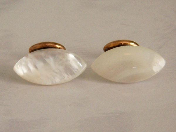 MOP Antique Cufflinks. Mother Of Pearl Cufflinks.