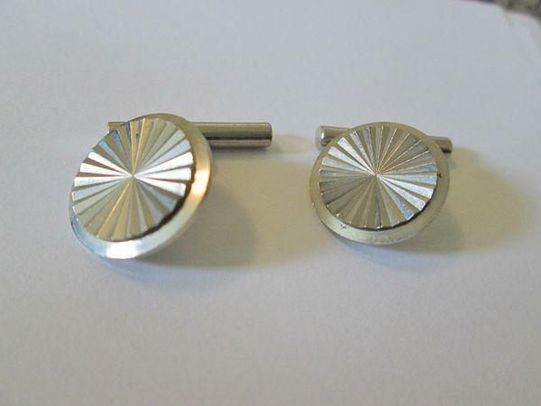 Small Vintage Cufflinks. Round Russian Cufflinks.