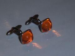 Orange Vintage Cufflinks
