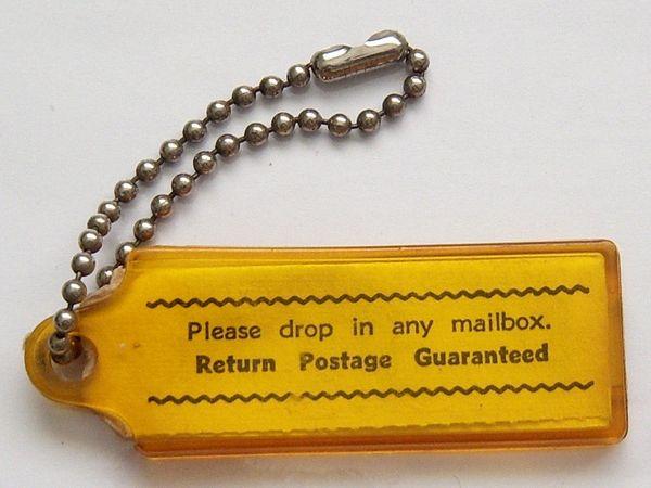 Vintage Yellow Key Chain.