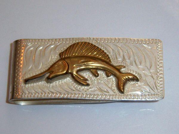 Vintage Marlin Money Clip. Sailfish Money Clip.