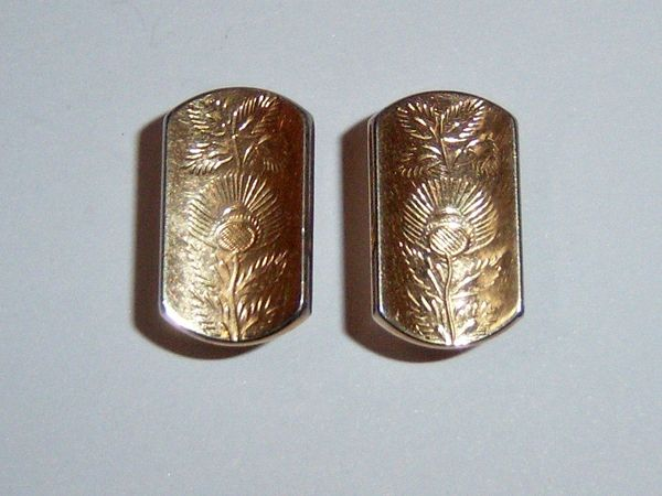 Vintage Thistle Cufflinks. Scottish Cufflinks.