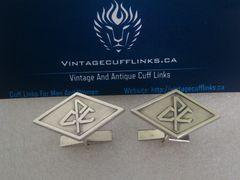 Vintage CPC Logo Monogram Silver Cufflinks