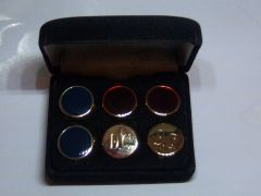 Vintage Button Cover Cuff Link Set