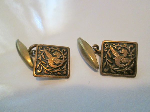 SOLD-French Art Deco Cufflinks. Wyvern/Dragon. SOLD
