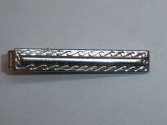 Vintage Signed Tie Clip. Nautical Waves Tie Clip.