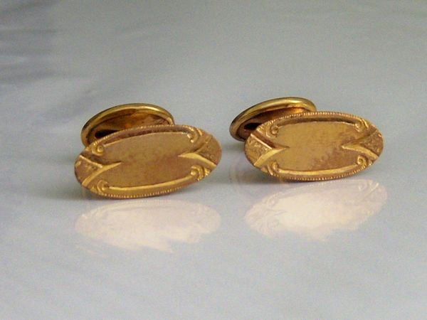 Art Deco Cufflinks. Scroll Cufflinks.
