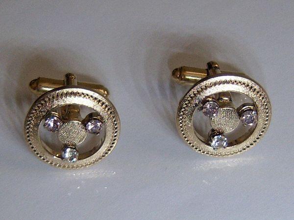 Vintage Silver Cufflinks. Signed Steering Wheel Cufflinks.