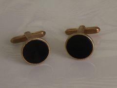 Classic Black Vintage Cufflinks.