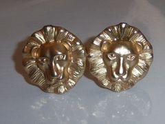 Signed Lion Head Vintage Cufflinks.