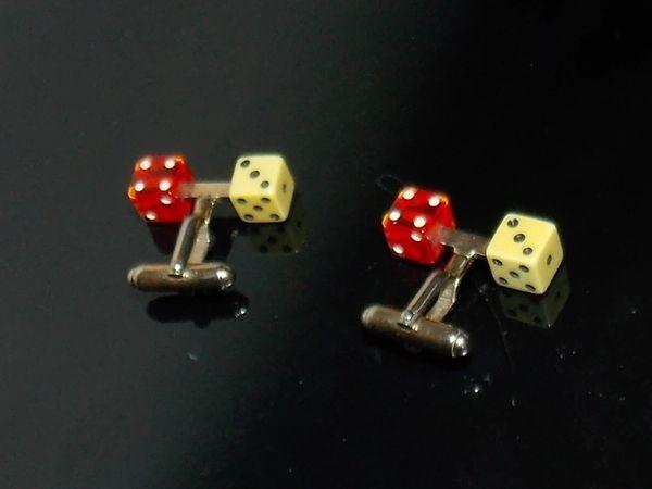 Vintage Lucky Seven Cufflinks. Craps Cufflinks. Dice Cufflinks. Gambling Cufflinks. Casino Cufflinks.