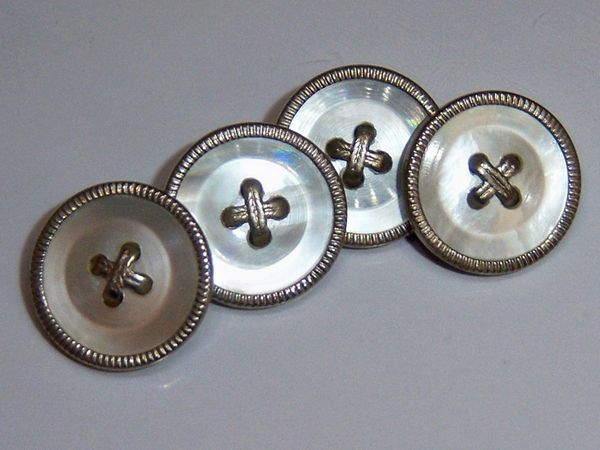 Vintage Cufflinks. Classic White Button Look Cufflinks.