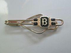 Letter B Enamel Vintage Tie Clip