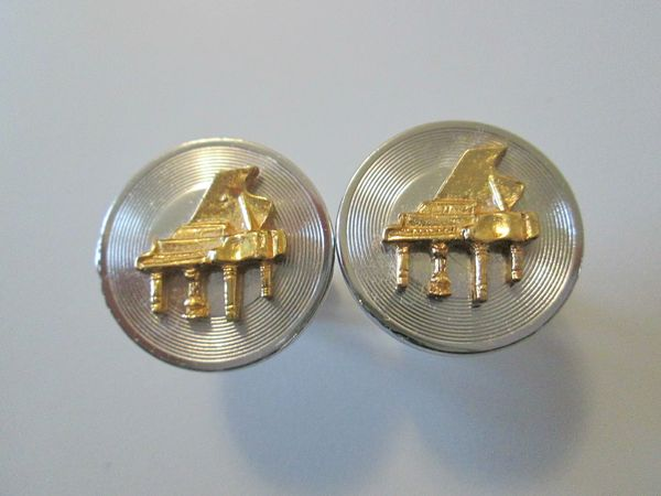 Piano On Record Vintage Cufflinks. Musician Cufflinks.
