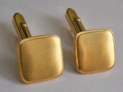 Square Vintage Cufflinks. Framed Brushed Tops.