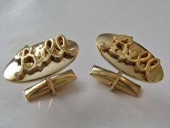 Vintage Cufflinks. The Name Bill In Script Cufflinks.