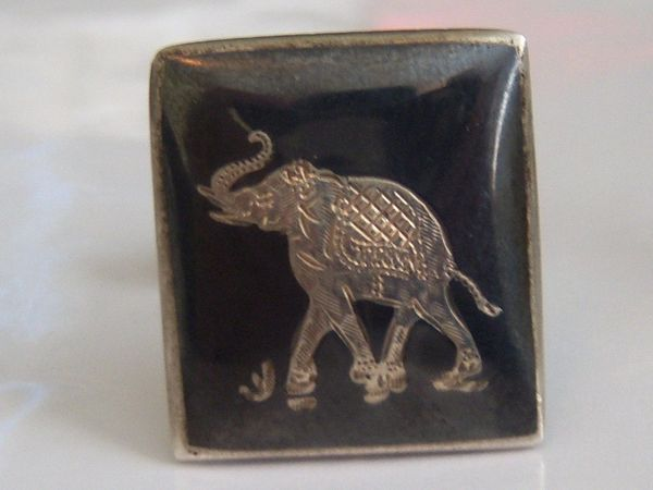 Sterling Silver Cufflinks. Elephant Cufflinks.