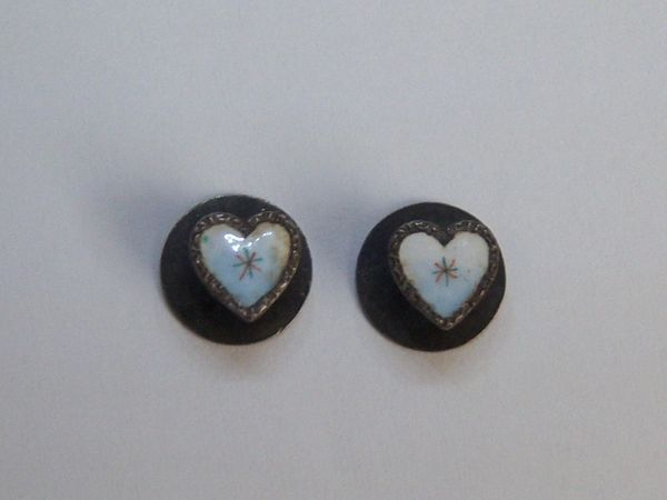 Mini 925 Fine Silver Heart Shirt Studs
