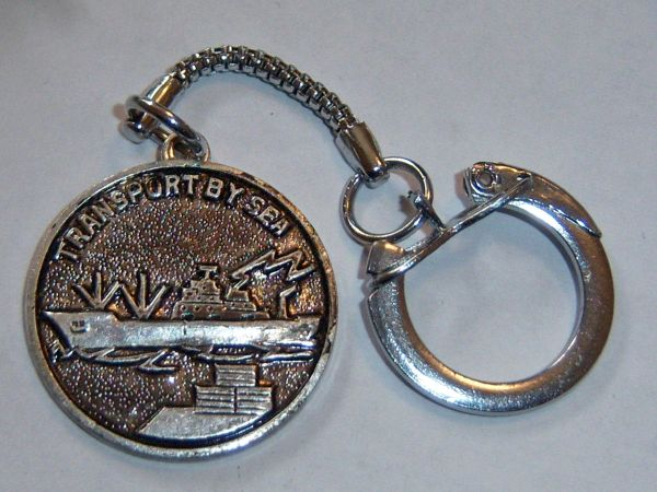 Transport By Sea Vintage Key Chain.