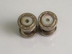 Vintage Snap Cufflinks In Silver Tone
