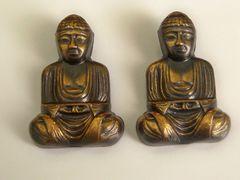 Large Vintage Buddha Cufflinks. Vintage Buddhist Cufflinks.