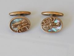 Vintage Moose Cufflinks. Wildlife Cufflinks.