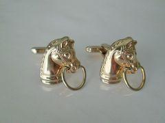 Vintage Horse Cufflinks. Equestrian Cuff Links.