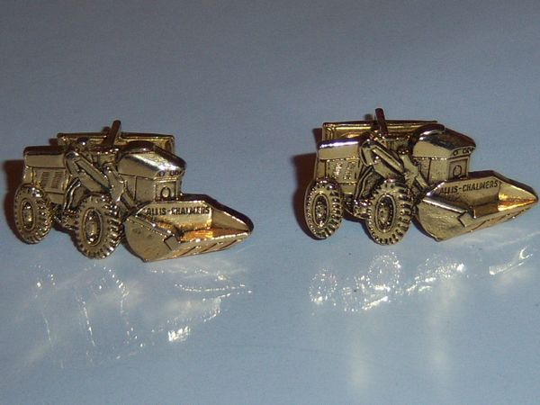 Vintage Construction Cufflinks. Front End Loader Cufflinks. Tractor Loader Cufflinks.
