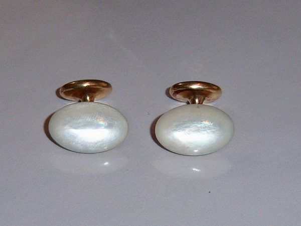 Mother Of Pearl Antique Cuff Links