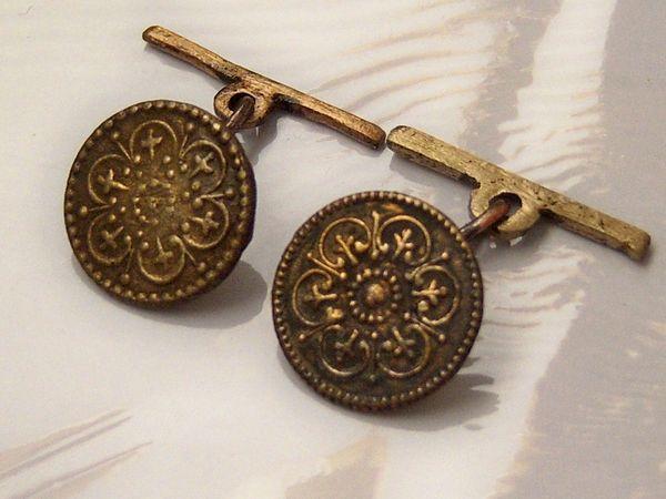 Antique Spanish Buttons. Convert Cufflinks. Cross Cufflinks.
