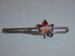 Vintage Halifax Tie Clip. Enamel Maple Leaf Tie Clip.