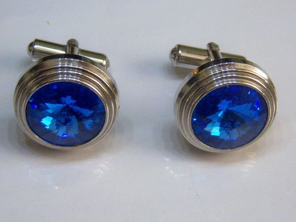 Large Blue Stone Vintage Cufflinks.