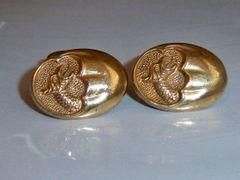 Art Deco Mythological Cufflinks. Cryptid Dragon Cufflinks.