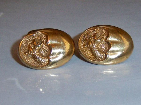 Art Deco Mythological Cufflinks. Cryptid Dragon Cufflinks.