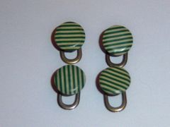 Vintage shirt studs. Small Art Deco French Shirt Studs. Green Shirt Studs.