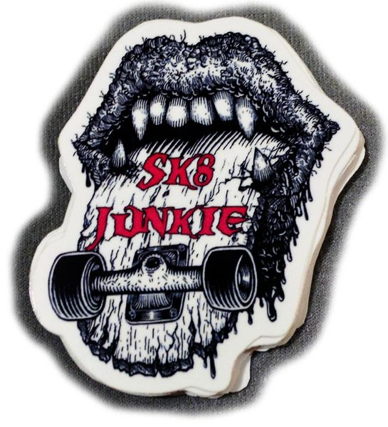 Sk8junkie Sk8mouth Stickers