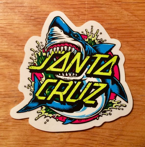 Santa Cruz Shark Dot Sticker - 3""