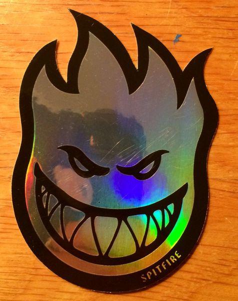 Spitfire Fireball Prism Sticker Small