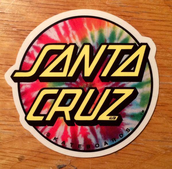 "Santa Cruz Tie Dye Dot 3"" Sticker"