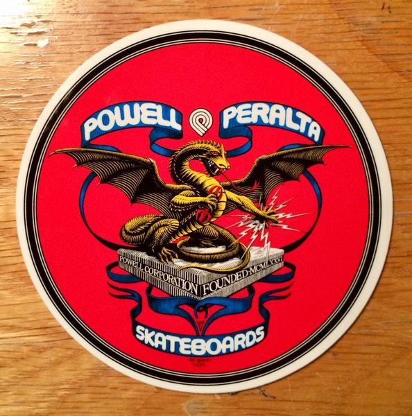 "Powell Peralta Skateboards 4"" Banner Dragon Sticker"