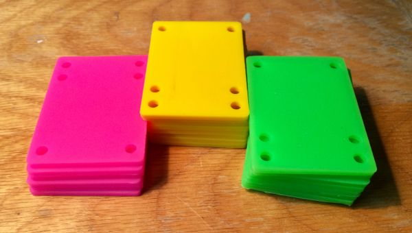 "Raiser pads- 1/8"" Neon colors"